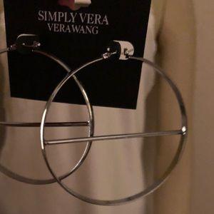 Simply Vera Wang silver hoops